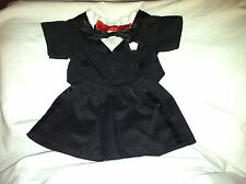 Build a Bear Black Tux with Red & Black Bow Ties