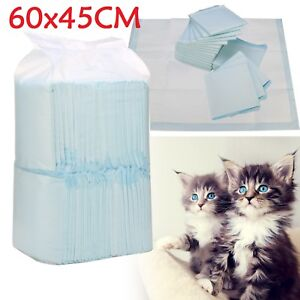 50/100/150 60X45/90CM LARGE PUPPY TRAINING PADS TOILET PEE WEE MATS PET CAT DOG