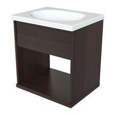 Inval Modern Espresso Bathroom Vanity with Sink Bowl