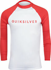 Quiksilver Mens Always There LS UPF 50 Rashguard - High Risk Red