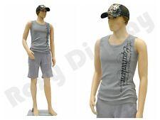 Male Plastic Mannequin Display Dress Form PS-Ken + Free Wig