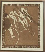 "Ann Woolfolk ""The Race"" Print Art 8/175 Frame 15""x 16.5"""