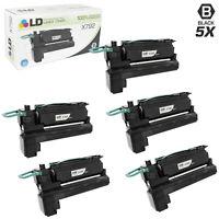 LD Remanufactured Lexmark X792/X792X1KG 5PK Extra HY Black Toner Cartridges