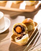Chinese Food Snacks Pastry Danhuangsu华人食品小吃 杭州老字号糕点点心雪媚娘蛋黄酥包邮 知味观蛋黄酥120g/盒 X2