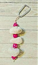 New listing Chinchilla pumice and pink wooden beads hanging chew toy. Hand made new
