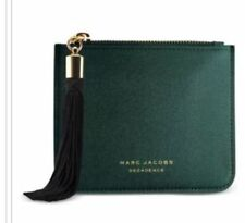 MARC JACOBS DECADENCE GREEN SATIN EVENING POUCH Bag With Black Tassel NEW IN BOX