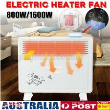 Electric Manual Panel Heater Fan Convection Warmer Thermal+Tripod Wall Mount