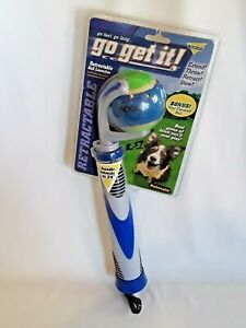 """Throw it Dog Toys with Tennis Ball Handle Extends to 24"""" Fetch Toy Dogs Puppies"""