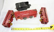 Pressed Steel - Marx 4-Pc Floor Train - Engine Tender Passenger Cars