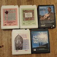 Vintage Country Gospel 8 Track Tapes Lot Of 5 / Used