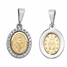 Madonna Pendant Madonna Necklace Yellow Gold Madonna Medal