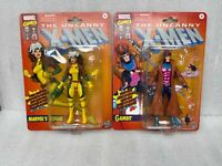 Marvel Legends lot rogue and gambit retro exclusive DAMAGED BLISTER