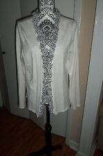 Open Cardigan Sweater By RED Cascading Flowers down Front & Neck SIZE Large EUC
