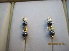 Pr Gold Tarnish Resistant  Wire Faux Pearl Ear Vines Climbers Ear Pins ....024 G