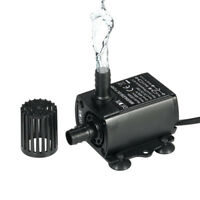 Submersible Brushless DC Water Tank Pump w/ Female Plug DC12V 10W 400L/H Lift 4m