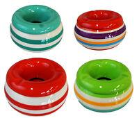 Aschenbecher Windaschenbecher Keramik Tischaschenbecher mit Deckel Bunt Groß