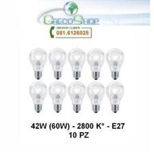 10 Lampada/Lampadina alogena risparmio energetico 150W (100W) E27 Goccia Cilvani