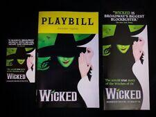 WICKED Musical Broadway Playbill & Flyers. Hannah Corneau, Ginna Claire Mason