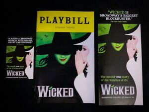 WICKED Musical Broadway Playbill & Flyers. Hannah Corneau, Ginna Claire Mason