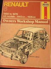 Renault 6 used haynes workshop manual 1968-1979