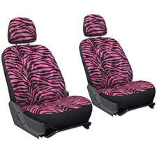 SUV Van Truck Seat Cover Hot Pink Zebra Print 6pc Bucket Detachable Head Rest