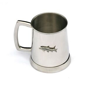 Barbel Tankard 1 Pint Metal Drinking Mug Present Coarse Freshwater Fishing 019