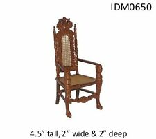 "ORNATE ""LION"" CHAIR 1:12 SCALE DOLLHOUSE MINIATURES Heirloom Collection"