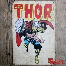 Metal Tin Sign the mighty thor Bar Pub Home Vintage Retro Poster Cafe ART