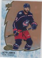 19/20 ICE...SETH JONES...ORANGE PARALLEL..# 21..BLUE JACKETS..FREE COMBINED SHIP