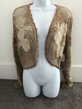 Sandy Starkman Embroidered Crocheted Beaded Bolero/Jacket. M NWT. SS BL 253