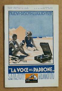 Musica - Catalogo Listino Nuovi Dischi La Voce del Padrone - Luglio 1931