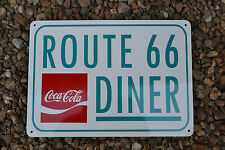 Coca Cola Route Diner 66 Sign vintage fountain drink collectible advertising