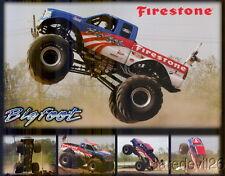 "2008 ""Bigfoot"" Ford Monster Truck Firestone postcard"