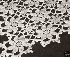 Vintage Crochet Pattern to make Daisy Flower Table Runner Tablecloth DaisyShower