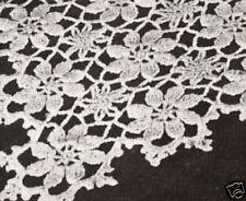 Vintage Crochet PATTERN to make Daisy Flower Table Runner Tablecloth DaisyShower