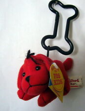 "NEW STUFFED Plush Clifford the Big RED DOG w CLIP backpack 4"" car seat Stroller"