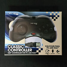 New Retrolink SS Sega Saturn for to PC Mac USB Classic Controller Gamepad  Black