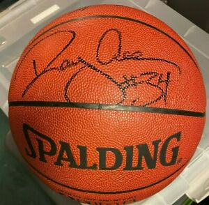 Ray Allen Autographed Spalding NBA Basketball JSA Boston Celtics