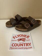 VGC Birkenstock Arizona Brown Leather Sandals Men's 6 Women's 8 Free Shipping