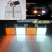 80 White/Amber LED Emergency Hazard Flashing Warning Strobe Dash/Grill/Bar Light