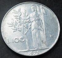 1975 Italy 100 Lire  Minerva Standing coin