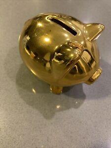 Pig Piglet Gold Champagne Funny Animal Figurine Dekofigur Lucky Pig 811980