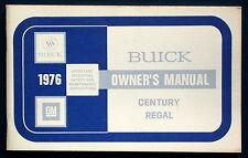 Owner's Manual * Betriebsanleitung 1976 Buick Century  Regal (USA)