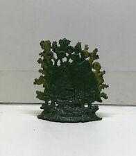 "(72662) VINTAGE LIGHT METAL 54mm GREEN BUSH UNKNOWN MANUFACTURER - 2"" W x 2"" H"