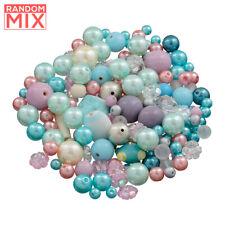 Glass Acrylic Metal Beads Mix Unicorn Mermaid (100g)