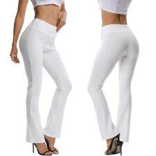 Women High Waist OL Harem Boot Cut Yoga Pants Casual Trousers Stretch Sports OBS