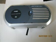 Vintage Coby Mini Music Box Cd Player/Am/Fm Radio Model Cx-Cd232 Blue/Silver