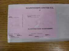 20/08/2001 Ticket: Scunthorpe United v Rotherham United  . Any faults with this