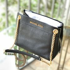 Michael Kors Small Medium Messenger Shoulder Leather Bag Handbag Purse Black