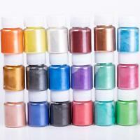 Cosmetic Grade Natural Mica Powder Pigment Soap Candle Colorant Dye 24 Color